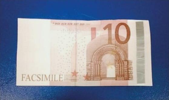 Risultati immagini per 10 euro fac simile