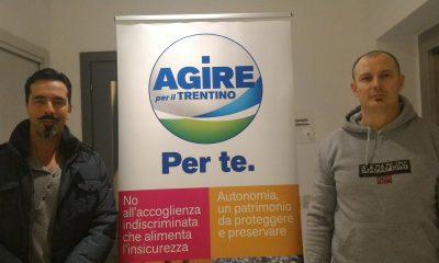 """Federico Zanotti e Roberto Cadonna aderiscono al progetto di """"Agire per il Trentino"""""""