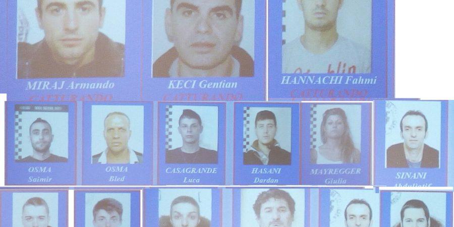 Droga: traffico e spaccio in Valsugana, 18 arresti