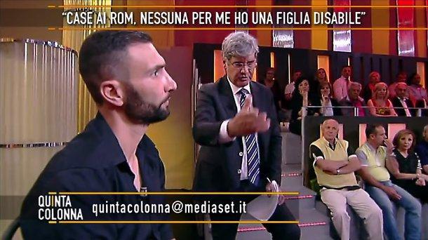 Quinta Colonna, Silvio Berlusconi offre assistenza a uno sfrattato di Roma