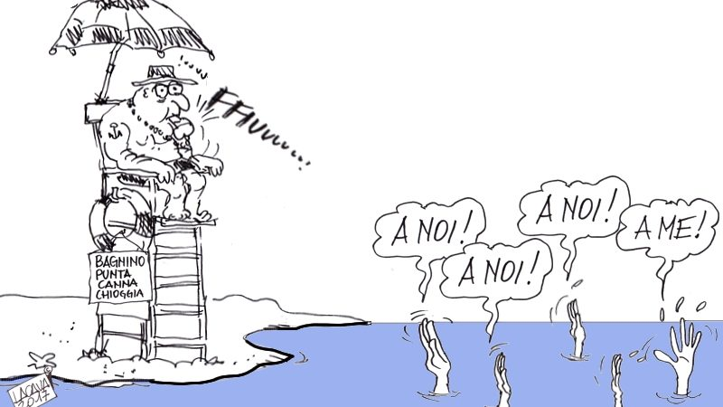 A Chioggia spunta la spiaggia neofascista