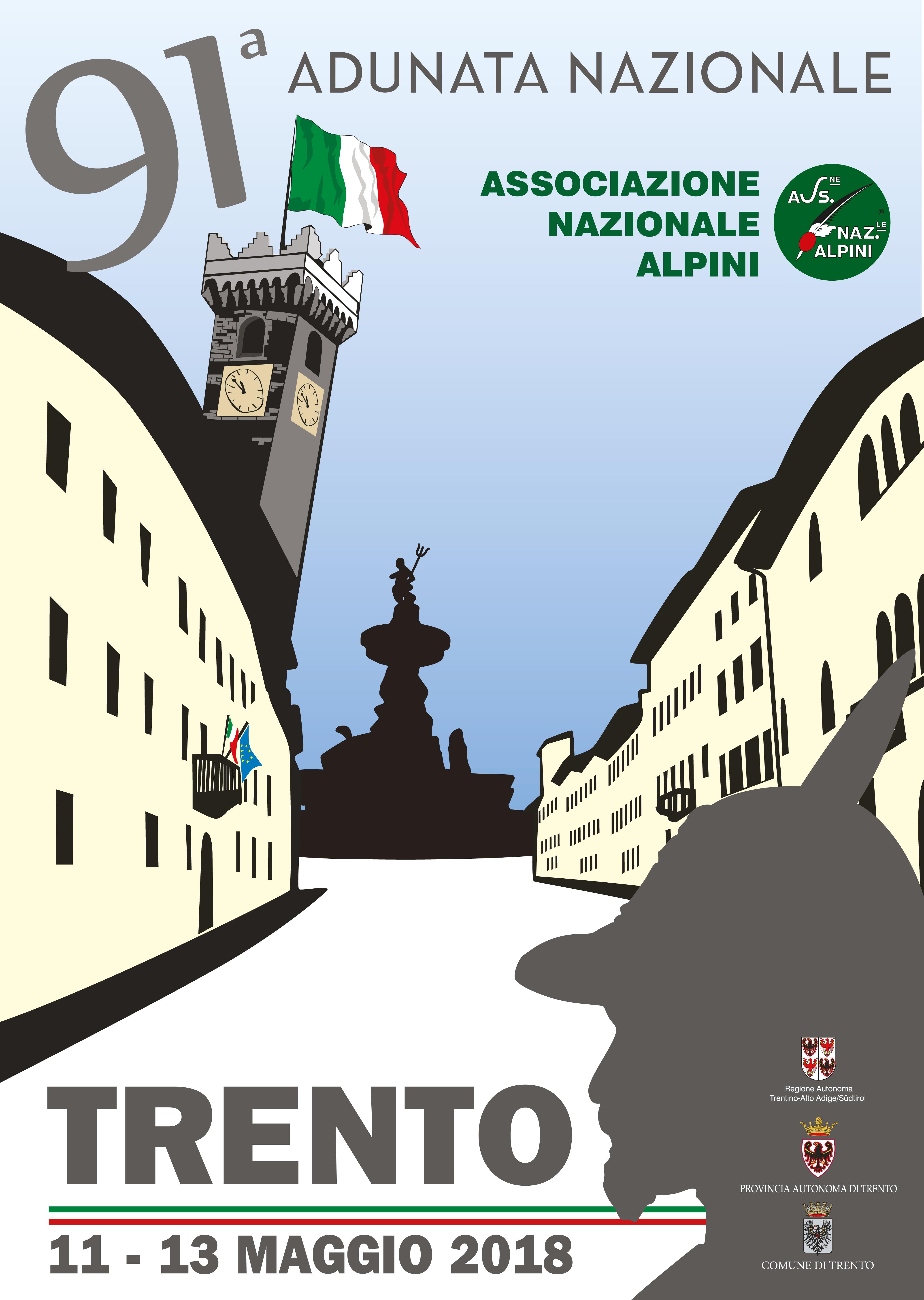 Ecco il Manifesto e la Medaglia dell Adunata alpini Trento 2018 ... 4bce2b53bad0