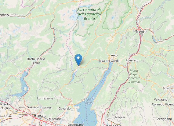 Terremoto oggi Trento: scossa magnitudo 2.8 a Storo