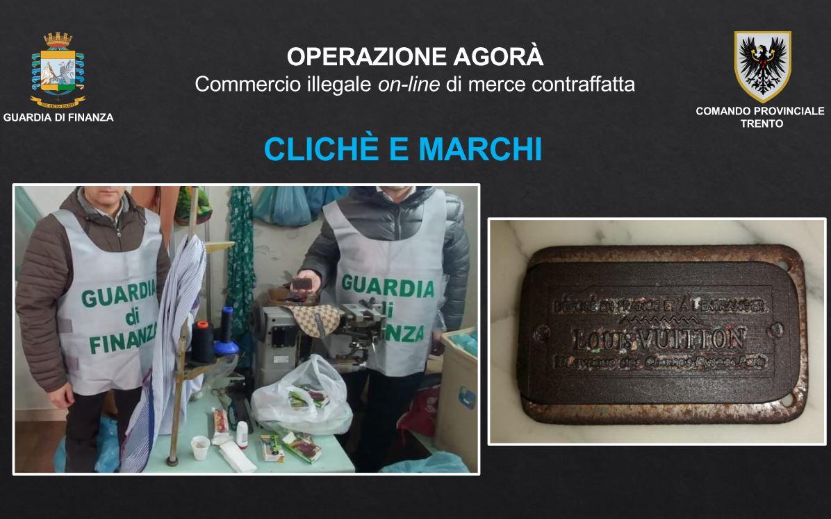 3502307af5 Nel corso delle quaranta perquisizioni sono stati sequestrati circa  diecimila tra capi di abbigliamento (giubbotti, felpe, magliette e  maglioni), ...